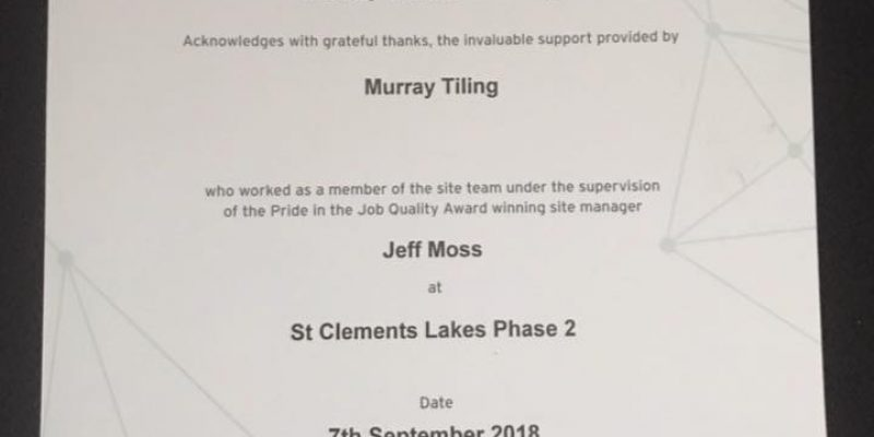 Winners of 'Pride in Job award!'